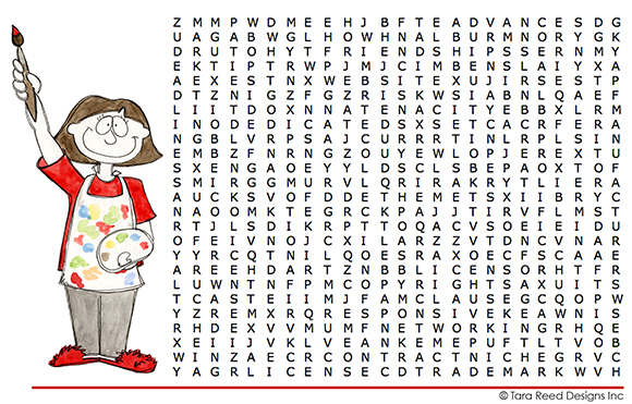 art licensing Word Search