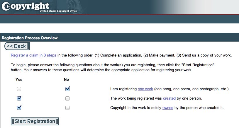 Library of Congress - new copyright questions