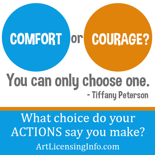 Quote - Comfort or Courage