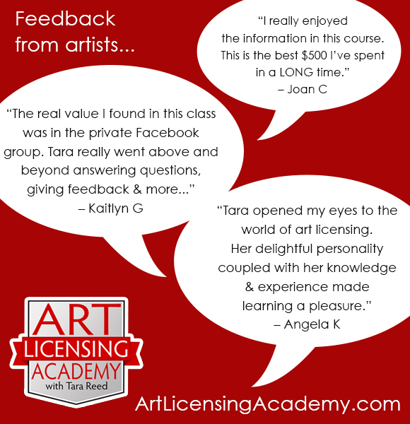Art Licensing Academy - feedback from artists